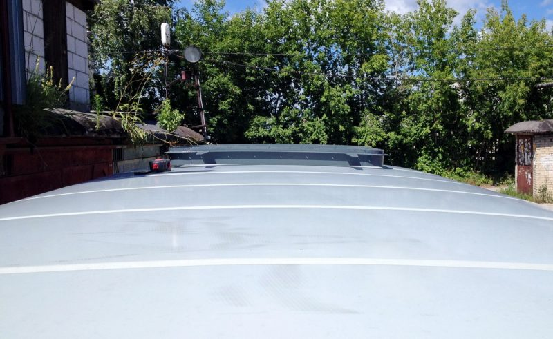примерка люка к крыше