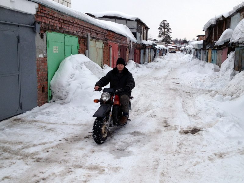 Тула ТМЗ по плотному снегу
