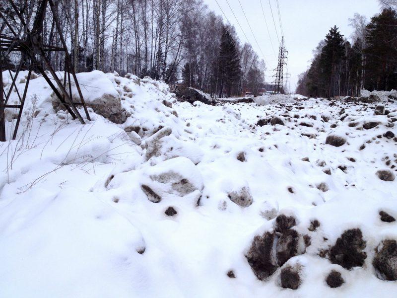 снегоотвал под ЛЭП
