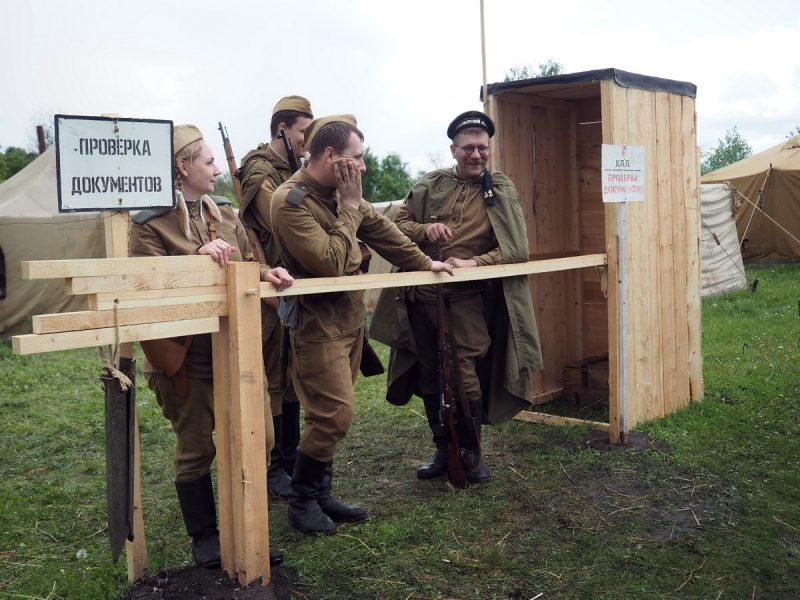 реконструкторы на фестивале Сибирский огонь