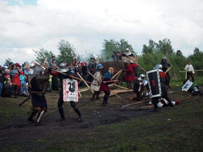 средневековый бой, реконструкция