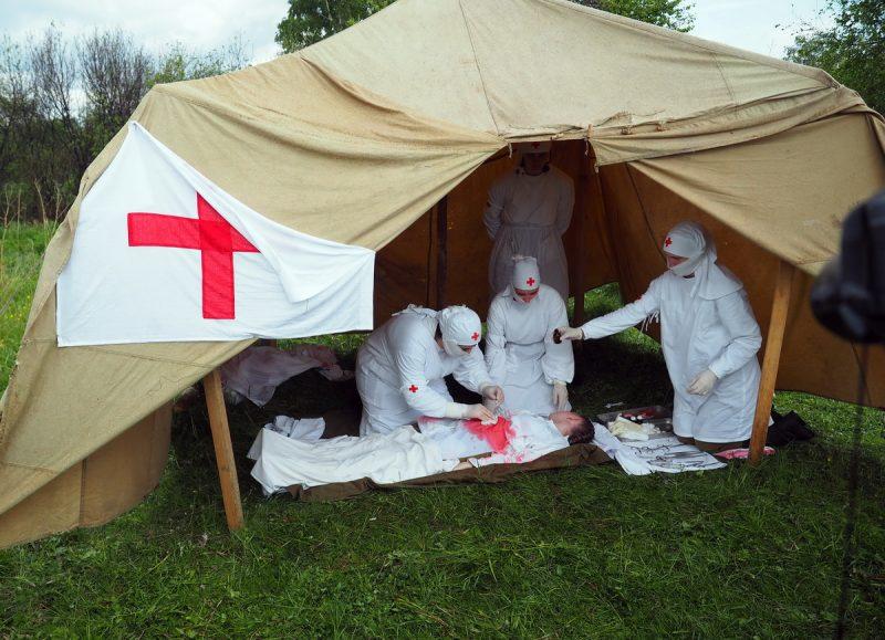 военный полевой госпиталь реконструкция
