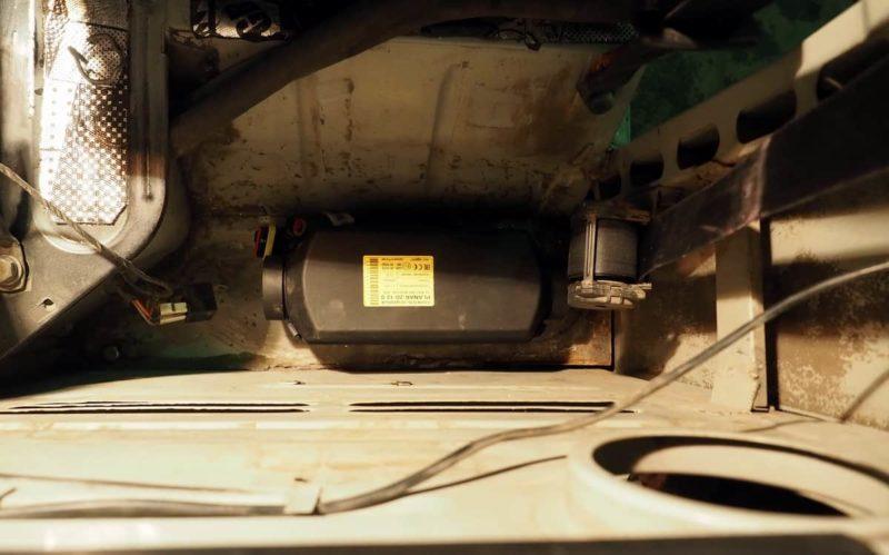 отопитель планар в буханку, пример установки