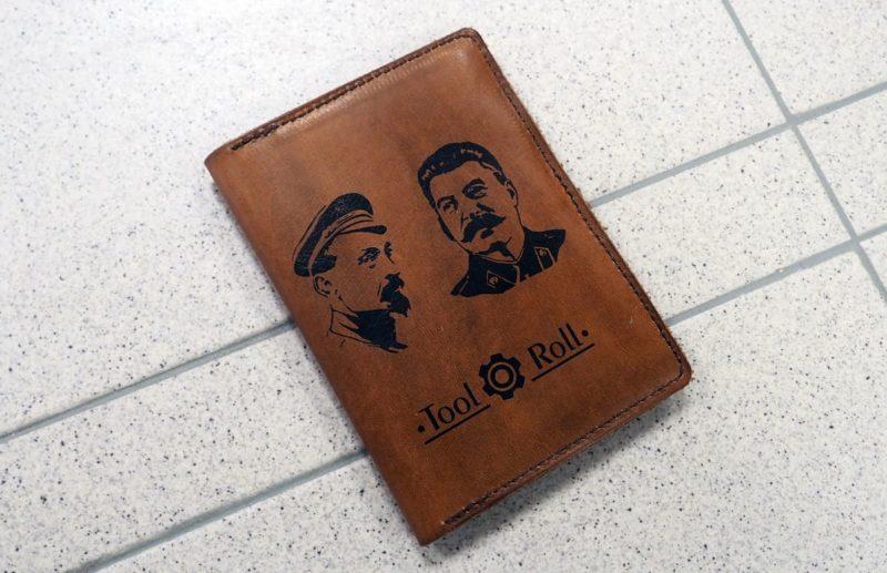 кожаный бумажник tool-roll
