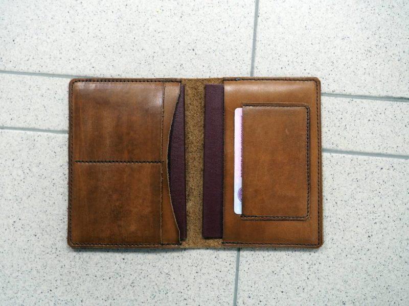 кожаный бумажник, отдел под права