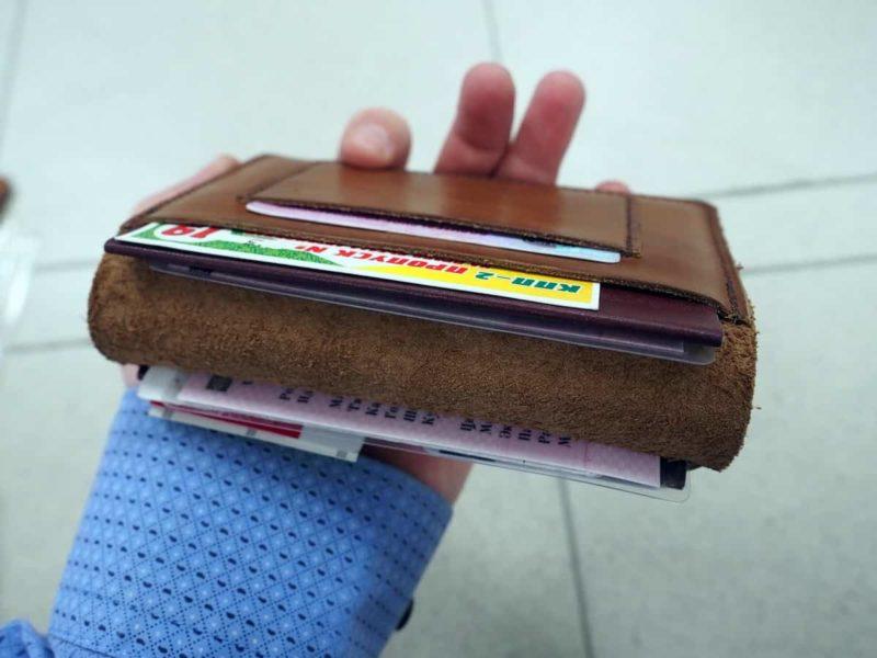 удобный кожаный бумажник tool-roll