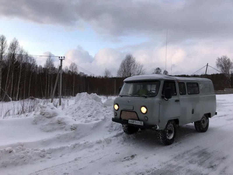 уаз буханка зимой, экспедиция грант РНФ