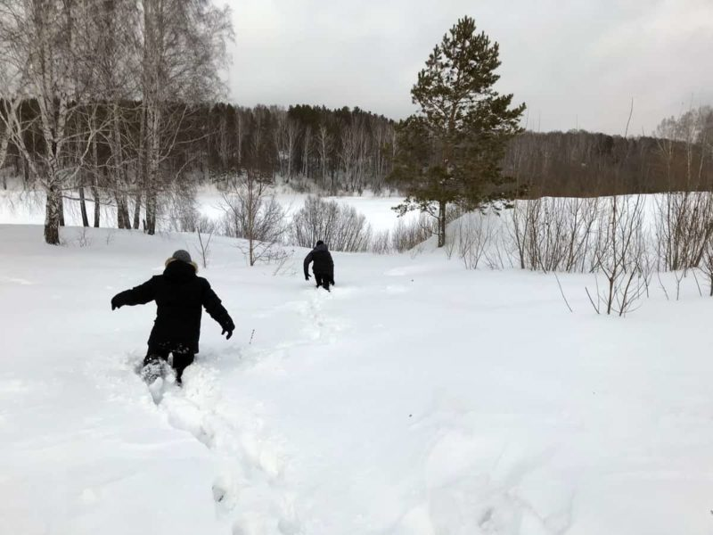 уровень снега в сибири