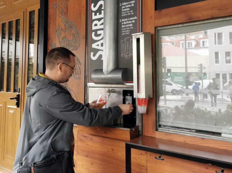 автомат по продаже пива Sagres
