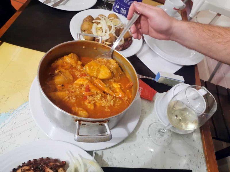 португальская кухня, рис с морепродуктами Arroz de Marisco