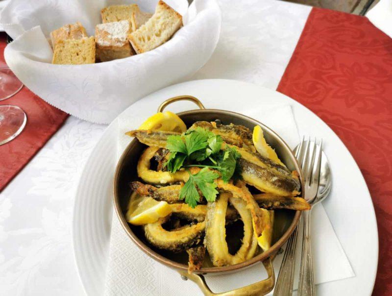 португальская кухня, жареный угорь Enguia