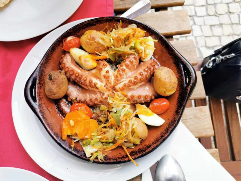 португальская кухня, осьминог Polvo à lagareiro