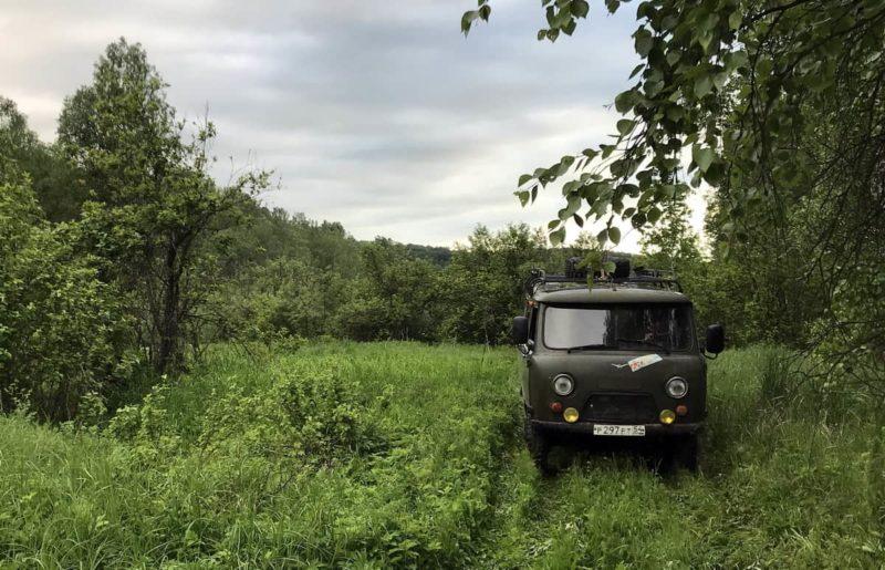 уаз буханка 452 в лесу Салаирский кряж