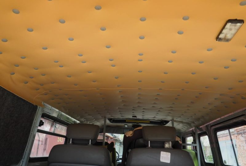 кожаный потолок уаз