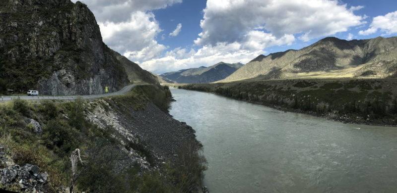 река Катунь, прижимы