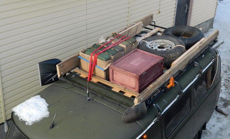 багажник на уаз санитарка