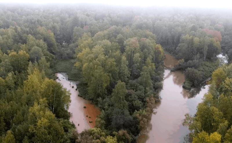 Обь-енисейский канал, слияние рек Ломоватая и Деревянная