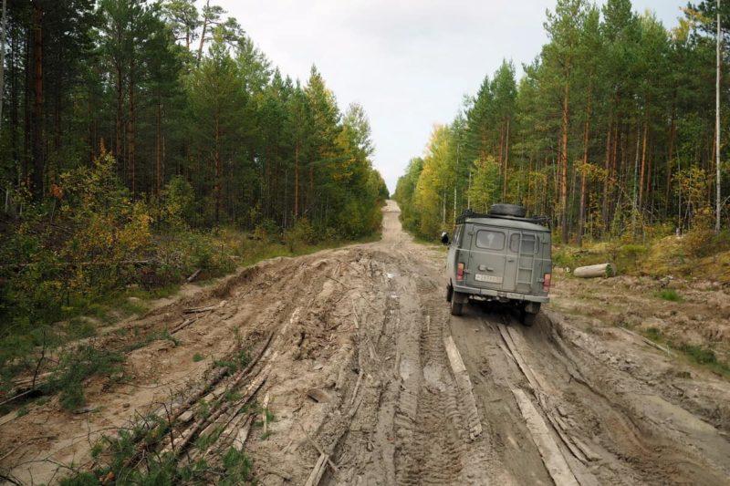 дорога катайга - Белый яр