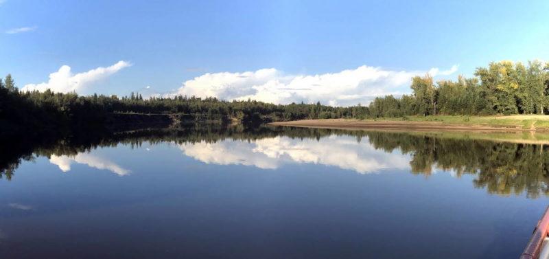 река Кеть вблизи поселка катайга