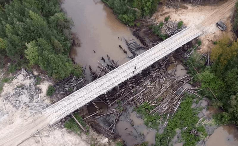 мост через реку Ломоватая, Обь-Енисейский канал близко