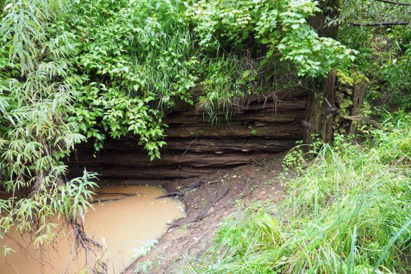 Обь-Енисейский канал, сруб из лиственницы