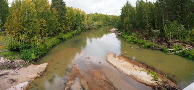таёжная река Утка, томская область