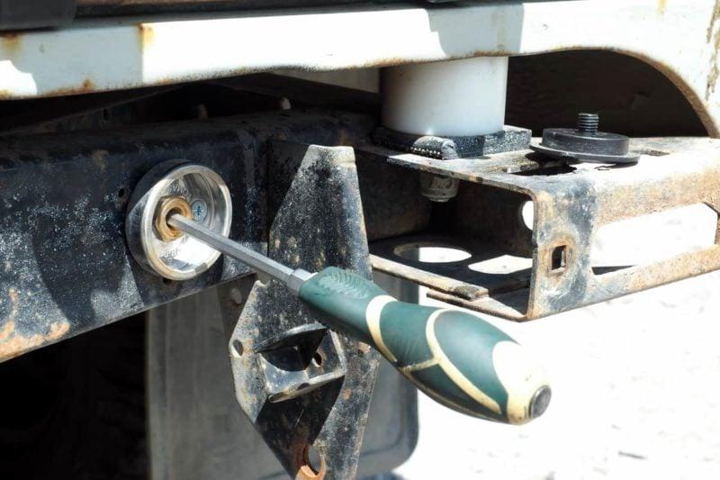 монтаж взу под бампер уаз