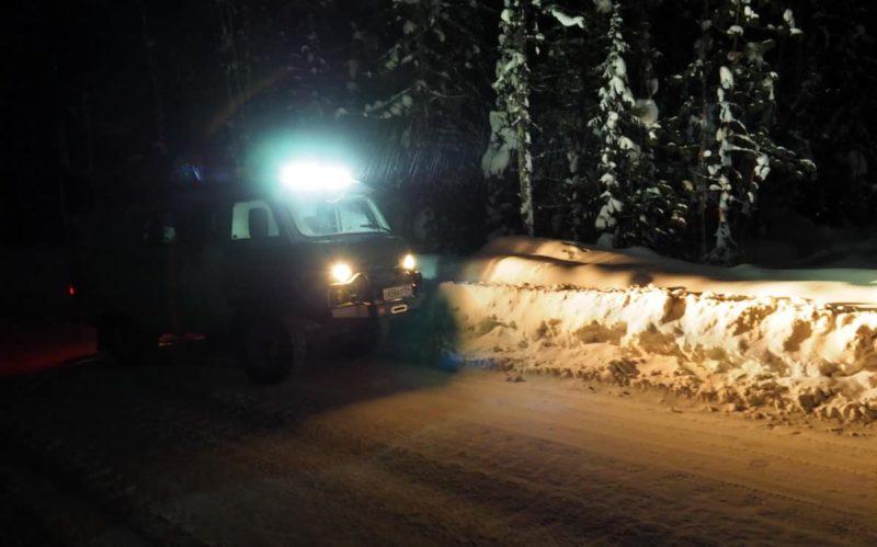 светодиодная балка Ежек тест в реальных условиях