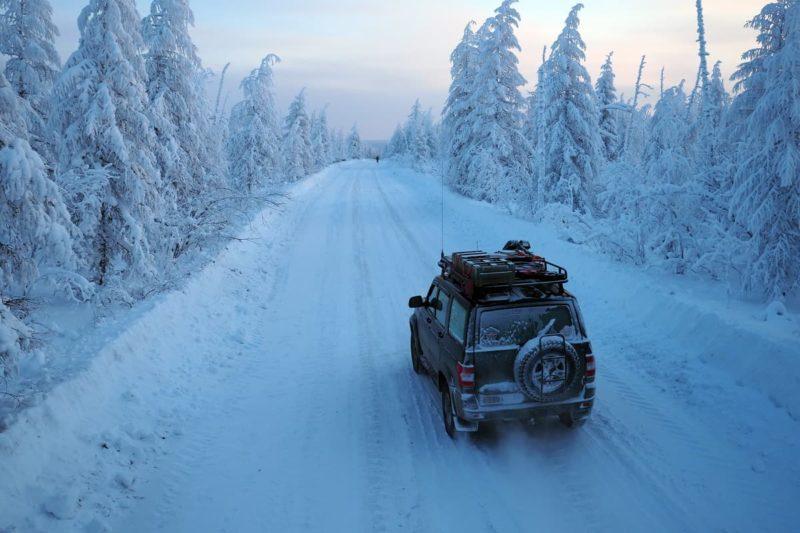 на уаз патриот на север по зимнику за полярный круг